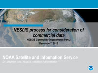 NESDIS process for consideration of commercial data