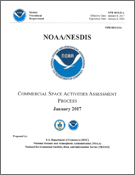Cover of the NOAA/NESDIS Commercial Space Activities Assessment Process document