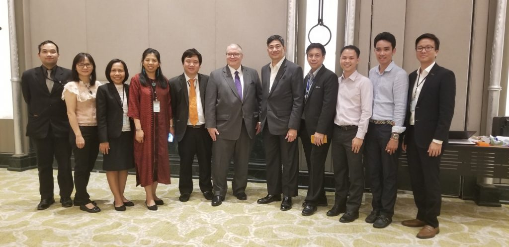 Kevin O'Connell with Thai government officials