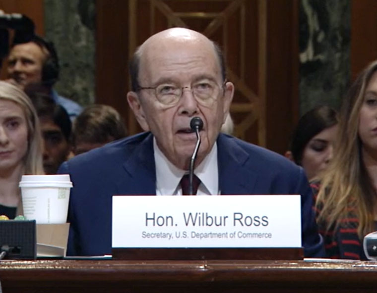 Secretary Ross Advocates for Office of Space Commerce Budget in Senate Hearing