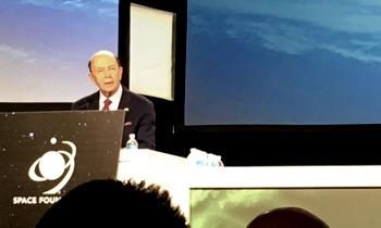 Secretary Wilbur Ross speaking at the 34th Space Symposium